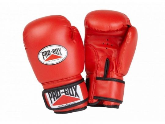 Gants de boxe Pro Box Kids Base Spar - Rouge