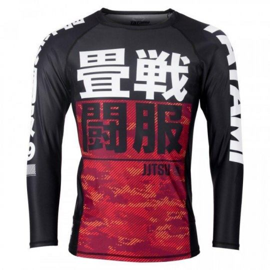 Tatami Kids Essential BJJ Rash Guard - Camouflage Rouge