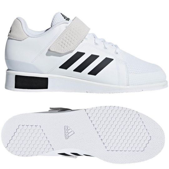 Bottes d'haltérophilie Adidas Power Perfect III - Blanc