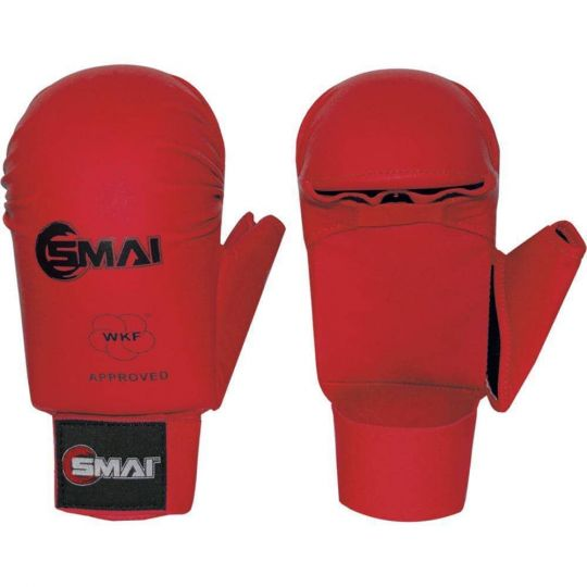 Blitz SMAI WKF Approved Gloves With Thumb Red - Fight Equipment UK