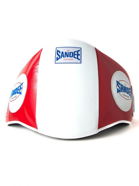 Sandee Muay Thai Belly Pad - Rouge / Blanc