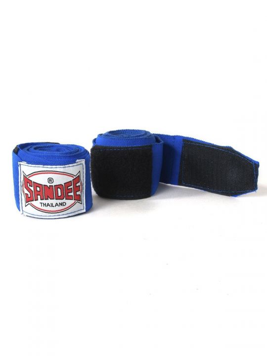 Sandee Muay Thai 2.5 Meter Stretch Hand Wraps - Bleu