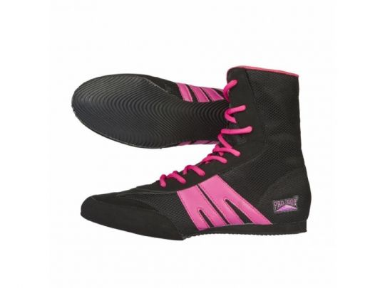 Pro Box Junior Boxing Boots - Black/Pink