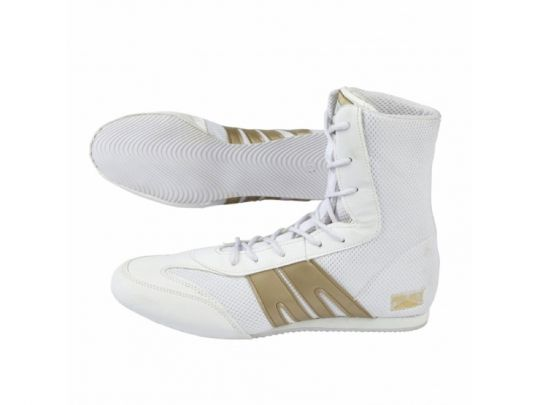 Bottes de Boxe Pro Box Adultes Blanc / Or