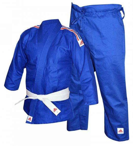 Adidas Kids Judo Uniform - 250g - Bleu