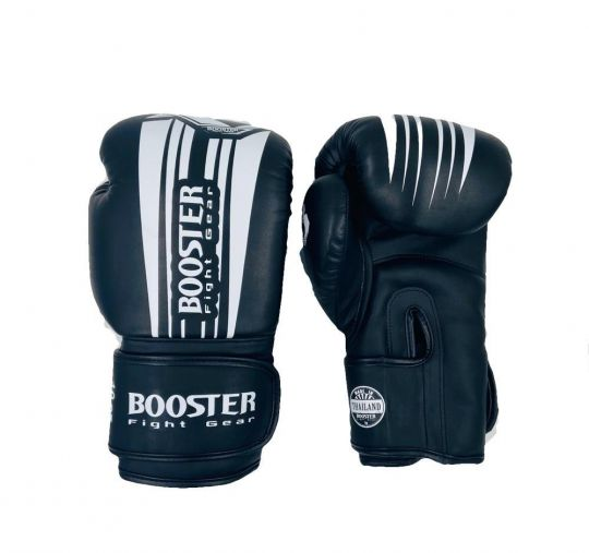 Booster Pro V7 Boxing Gloves - Black/White