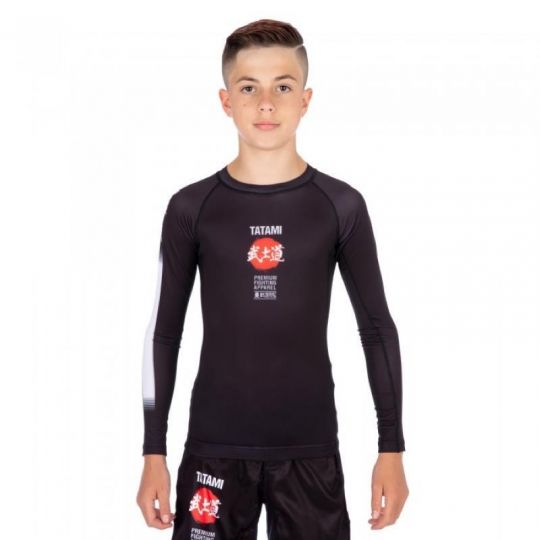 Tatami Kids Bushido à manches longues BJJ Rash Guard