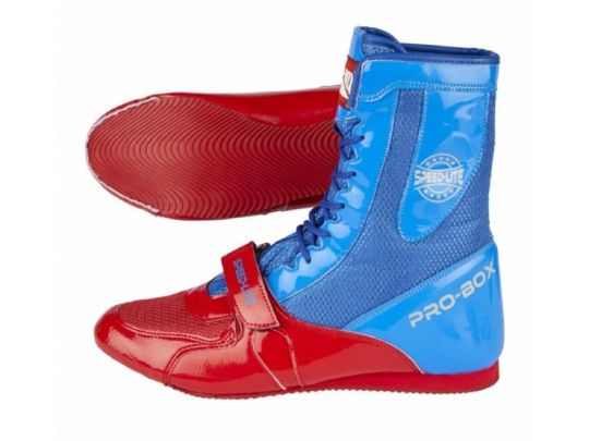 Pro Box Speed ​​Lite Junior Bottes de boxe - Bleu / Rouge
