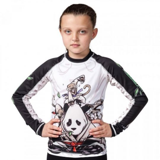 Tatami Kids Gentle Panda BJJ Rash Guard