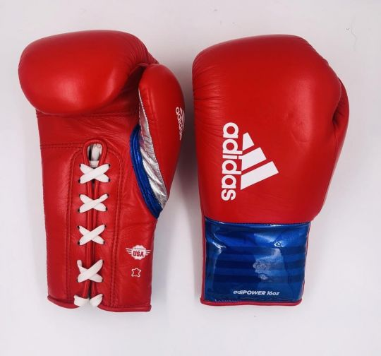 Adidas Adipower Lace Boxing Gloves - 16oz