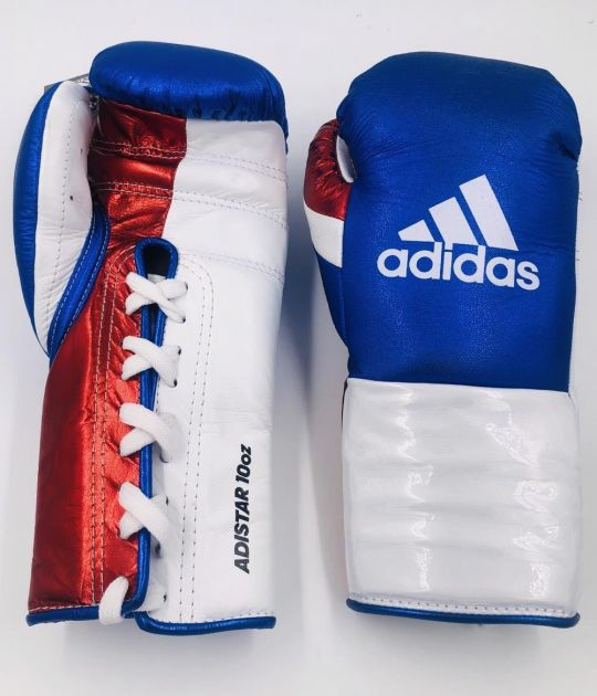 Adistar BBBC Approved Pro Boxing Gloves - Blue