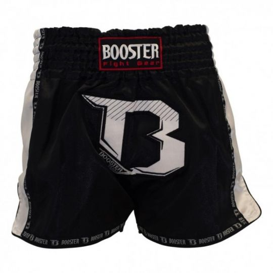 Booster Pro Muay Thai Shorts - Black/White