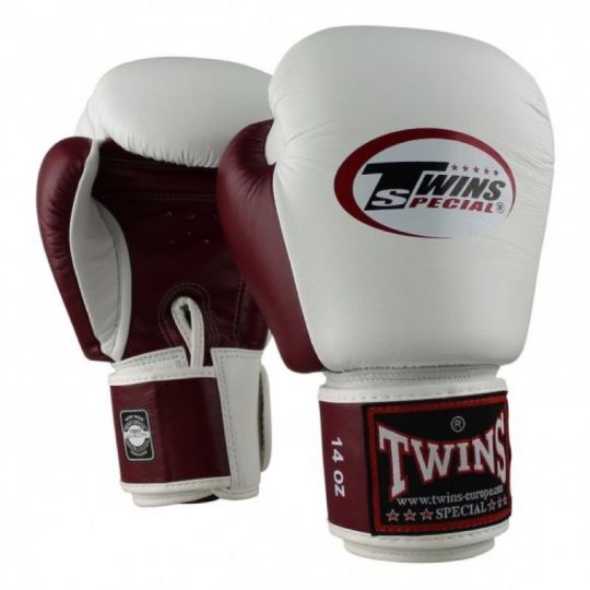 Gants de boxe Twins 2 Tone - Blanc / Marron