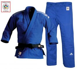Adidas Champion II Judo Uniform Bleu - Coupe Slim Fit - IJF approuvé