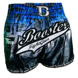 Short Muay Thai Booster Labyrint - Noir / Bleu
