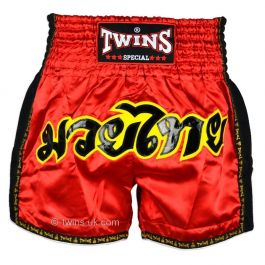 Twins Muay Thai Shorts Rouge Rétro